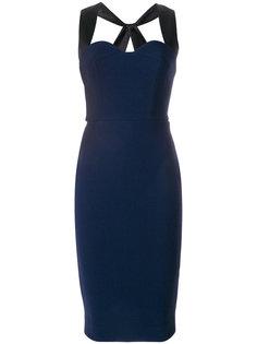 приталенное платье с перекрестными бретельками сзади  Victoria Beckham
