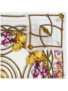 платок с барочным узором Versace
