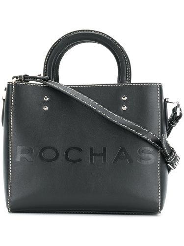 маленькая сумка-тоут с контрастной строчкой Rochas