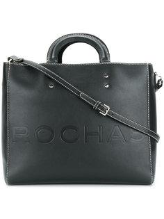 большая сумка-тоут с контрастной строчкой Rochas