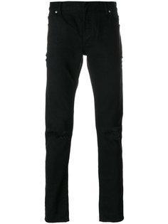 джинсы с потертой отделкой Balmain