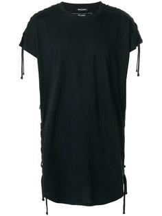 футболка со шнуровкой Balmain