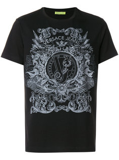 футболка Baroque с логотипом Versace Jeans