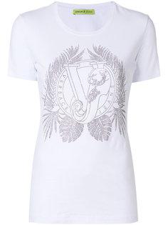 футболка с логотипом и заклепками  Versace Jeans