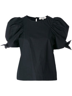 футболка с объемными рукавами и завязками  Sea