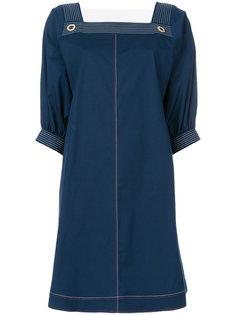 платье шифт с квадратным вырезом  Fay