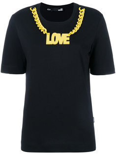 футболка с логотипом и цепочкой Love Moschino