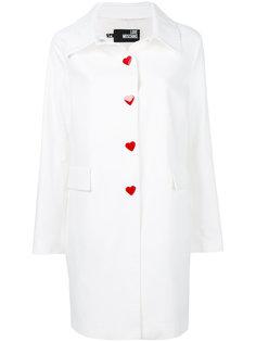 пальто на пуговицах  Love Moschino
