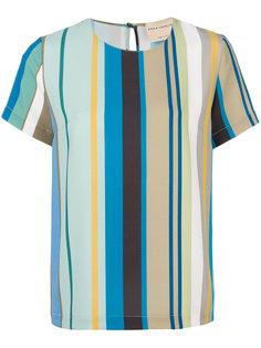блузка в полоску с короткими рукавами  Erika Cavallini