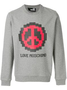 толстовка с принтом пацифика Love Moschino