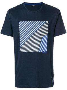 футболка с полосатым принтом Calvin Klein