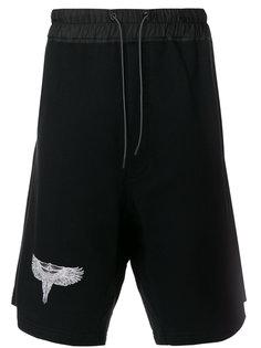 спортивные шорты с принтом орла Marcelo Burlon County Of Milan