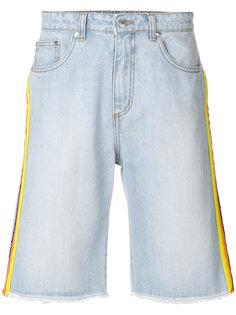 джинсовые шорты с полосками по бокам MSGM