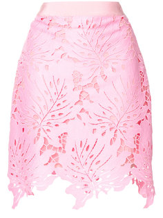 мини-юбка с нашивками в виде листьев  MSGM