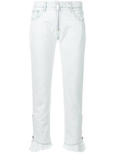 прямые джинсы с отделкой по краю  MSGM