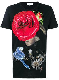 футболка с принтом розы Les Benjamins