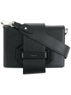 сумка на плечо с откидным клапаном Prada