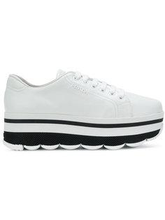 кроссовки с наборной подошвой Prada