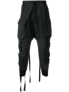 брюки карго с заниженной проймой Unravel Project