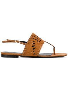 сандалии с обметочным швом Ermanno Scervino