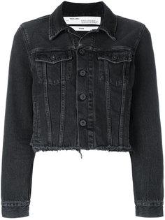 джинсовая куртка с вышивкой  Off-White