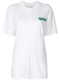 футболка с цветочным принтом  Off-White