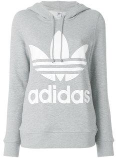 хлопковая толстовка с капюшоном и логотипом  Adidas