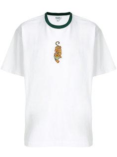 футболка с вышивкой тигра Kenzo