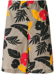 шорты с цветочным принтом MSGM