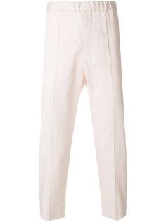 укороченные брюки с эластичным поясом Jil Sander