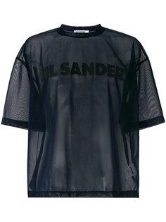 сетчатая футболка с принтом-логотипом Jil Sander