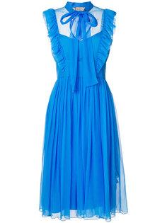 платье с рюшами и бантом Nº21