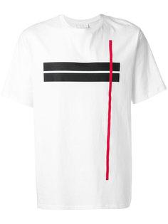 футболка с контрастной полосой Neil Barrett