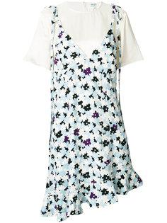 многослойное платье с цветочным принтом Kenzo