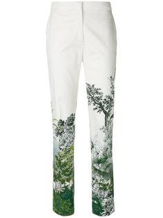 брюки с цветочным принтом Alberta Ferretti