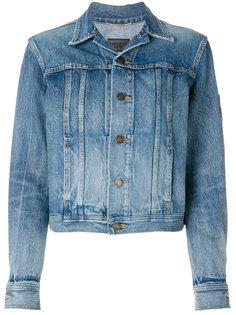 джинсовая куртка в стиле милитари YSL Saint Laurent