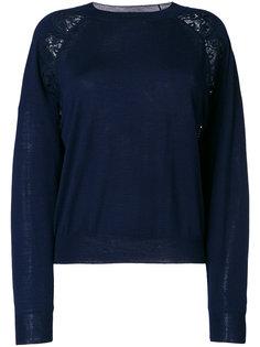 свитер с кружевной вставкой  Chloé