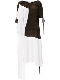 платье дизайна колор-блок  JW Anderson