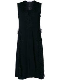 платье миди без рукавов с кружевной отделкой  Givenchy