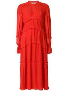 платье с завышенной талией и оборками  Tory Burch