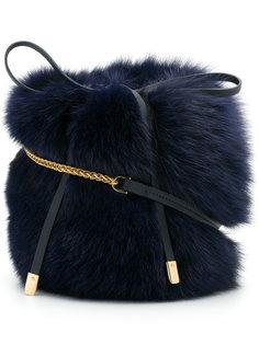 сумка на плечо с меховой отделкой Mr & Mrs Italy