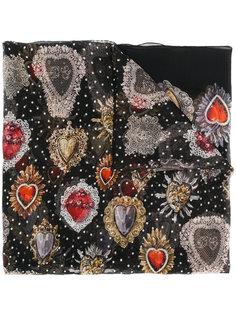 шарф с принтом Sacred Heart Dolce & Gabbana
