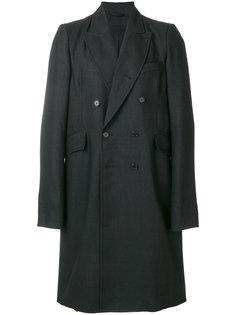 двубортное пальто Ann Demeulemeester Blanche