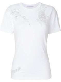 футболка с кружевными вставками Ermanno Scervino