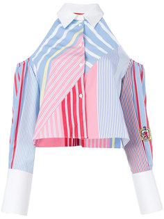 полосатая рубашка с открытыми плечами Tommy Hilfiger