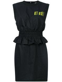 приталенное платье с баской Versus