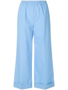 широкие укороченные брюки  Ermanno Scervino