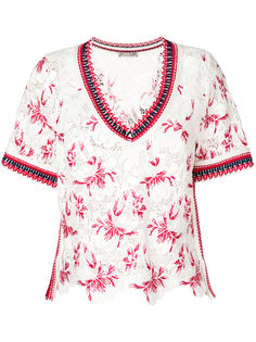 блузка с вышивкой Ermanno Scervino