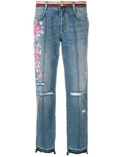 джинсы с вышивкой  Ermanno Scervino