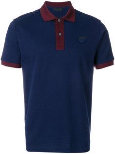 футболка-поло с вышивкой Prada
